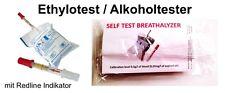 10 Einweg Alkoholtester Promille Ethylotest Testgerät NF-Zertifiziert Frankreich