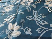 """1 Yrd 54"""" Wide Cotton Blue White Floral Pattern Material/Fabric #1485"""