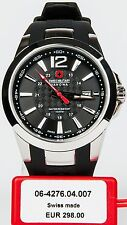 SWISS MILITARY HANOWA Herren Uhr Kautschukband NEU schwarz silber PREDATOR S19