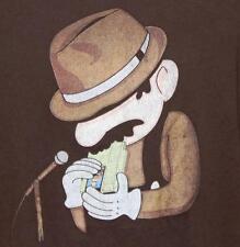 Threadless T Shirt Nintendo Mario Playing Blues 8 Bit NES Game Cart Harmonica