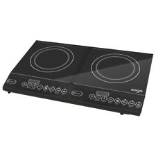 SOGA Double Electric Induction Cooktop Portable Kitchen Cooker Ceramic Hot Plate