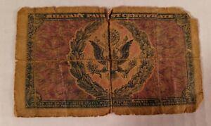 Vintage Korean War Era One Dollar US Military Payment Certificate Series 481