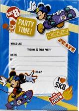 Disney MICKEY MOUSE INVITATIONS 20 Sheets inc Envelopes Invites Boys Party