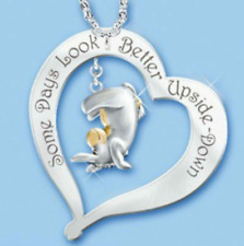 Disney Eeyore Necklace Two Tone Gold Plated Winnie the Pooh Gift Present