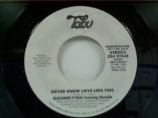 "ALEXANDER O'NEAL ""NEVER KNEW LOVE LIKE THIS  / SAME"" 45 MINT PROMO"