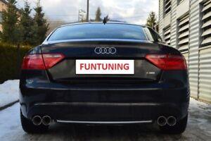 Audi A5 S5 Sportauspuff S-Line RS5 Endschalldäpfer Auspuff Exhaust B8 Coupe 80mm