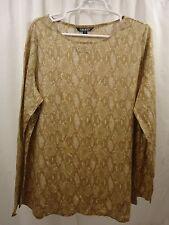 Women's Lauren Ralph Lauren  Linen L/S Python   Shirt 2X