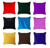 Large Plain Soft Velvet Design Cushion Covers Modern Pillow Case Home Sofa