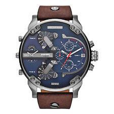 DIESEL Uhr DZ7314 MR. DADDY 2.0 Herrenuhr Chronograph Leder Braun Analog Datum