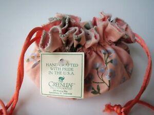 Jewelry Bag Travel Organizer Drawstring Pouch Peach Orange Floral New Free Ship