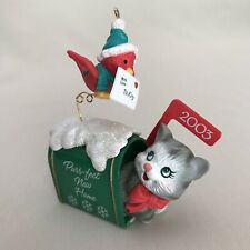 Purr-fect New Home dated 2003 Christmas Tree Ornament Carlton Cards