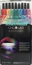 CND Shellac Combo~ 9200 LED LIGHT LAMP 3C Tech + RAINBOW KIT 26pc Gel Polish Set