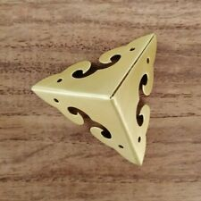 4x Corner Angle Protectors Brace Brass Wrap Retro for Wooden Trunk Chest Quality