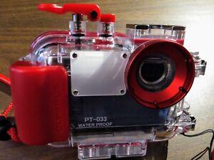 Olympus Stylus 720 SW (Blue) Camera & PT-033 Underwater Housing + Extras