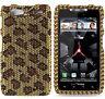 For Motorola DROID RAZR MAXX Crystal Diamond BLING Hard Case Phone Cover Leopard
