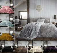 New HUG & SNUG Teddy Fleece Fluffy Duvet Cover Set Cosy Warm Soft Bed Set A/Size