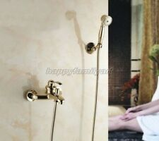 Luxury Gold Brass Bathroom Tub Faucet Mixer Tap Hand Shower ytf401