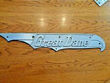 Great Dane Trailer Badge Banner Trucker Semi Sign Emblem Vintage Truck Tractor