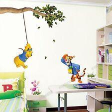 Children/Kids/Nursery Winnie The Pooh Swing Wall Stickers Decal art