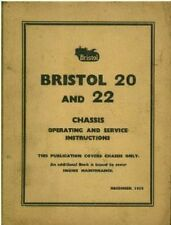 BRISTOL CRAWLER TRACTOR - MODEL 20 & 22 OPERATORS MANUAL