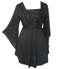 Women Plus Size Black Corset Gothic Halloween Top Size 12 14 16 18 20 22 24 NEW