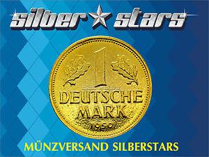 1 DM / Deutsche Mark 1981 - 1987  24 Karat vergoldet in Kapsel - Portofrei