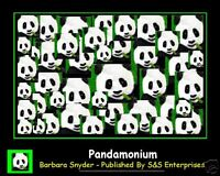 Pandamonium by Barbara Snyder Panda Bear Signed Print
