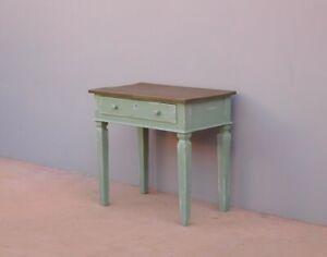 Tavolino scrittoio Luigi XVI con cassetto, laccato Shabby Chic, primi '800!