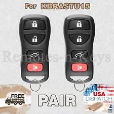 2x Car Transmitter Alarm Remote for 2002 2003 2004 2005 2006 Nissan Maxima 4b