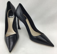 Christain Dior Black Leather Pumps Size 38 K1416