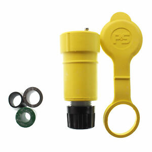 PASS & SEYMOUR 25W-47 WATER-TIGHT RUBBER TWISTLOCK CONNECTOR, 4X 15A 125V YELLOW