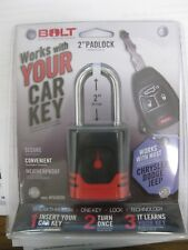 "Bolt Locks 7018520 Single 2"" Padlock for Dodge, Ram, Jeep & Chrysler Keys"