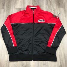 FILA Sport Italia Warm Up Jacket Mens Large L Full Zip Track Soccer Futbol