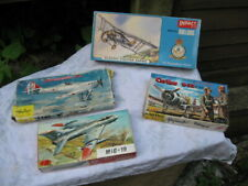4 X VINTAGE MODEL AEROPLANE CONSTRUCTION KITS.JOB LOT.ALL BOXED.1-48 + 72 scale.