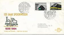 NETHERLANDS 125tH ANNIV OF RAILWAYS FDC SG 976 -977  MY REF 596