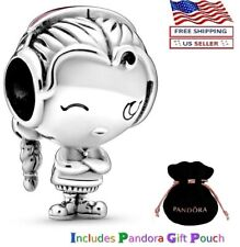 New Authentic PANDORA Sterling Silver S925 ALE Girl Teenager Pink Enamel Charm