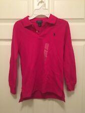 Nwt Boy's Size 7 Aruba Pink Polo Ralph Lauren Long Sleeve Collared Shirt