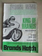 """Brands Hatch """"King of Brands"""" Programme  Evening New International 28th May 73"""