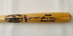 "HANK AARON Signed 35"" Louisville Slugger H&B 125 A99 Game Model Bat- JSA LOA"