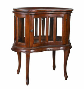 Tea Cabinet Mahogany Teevitrine Kidney Table Coffee BAR Car Minibar