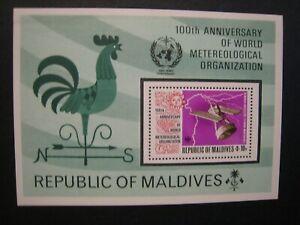 Republic of Maldives 100th Anniv. Meterological oranization S/S lot of 4  MNH OG