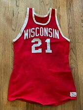 Vintage 1972 WISCONSIN Badgers Game Used Basketball Jersey Worn #21 B Luchsinger