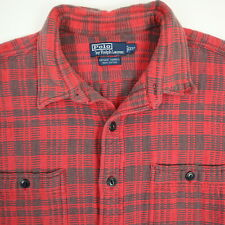 Polo Ralph Lauren Vintage Farrell Work Shirt Mens 2XL Heritage Faded Heavyweight