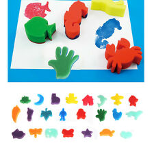 24Pcs Sponge Stamp Kids Children Art Craft Painting Set Education School DIY Toy