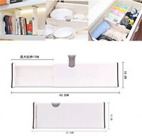 Drawer Dividers White Spring Loaded Expandable Kitchen Bedroom Organizer AY