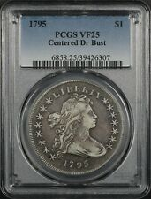 1795 Draped Bust (Centered Dr Bust) $1 Dollar PCGS VF25 Beautiful original color