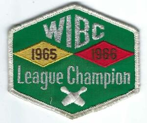 Vintage 1960s (1965-1966) Women's WIBC LEAGUE CHAMPION Bowling Patch c7518
