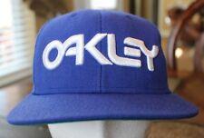 OAKLEY HIPSTER RAPPER BLUE & WHITE EMBROIDERED WOOL BLEND SNAP-BACK HAT