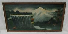 NICELY EXECUTED MID 19TH CT OIL ON BOARD PAINTED CANADIAN LANDSCAPE BY HITCHCOCK