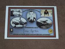 Peter SPODEN - original signed photo, Luftwaffe Ace Pilot WW II/c